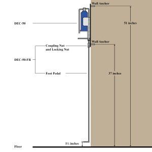 DEC-50 Dispenser Foot Pedal - DEC-50-FR